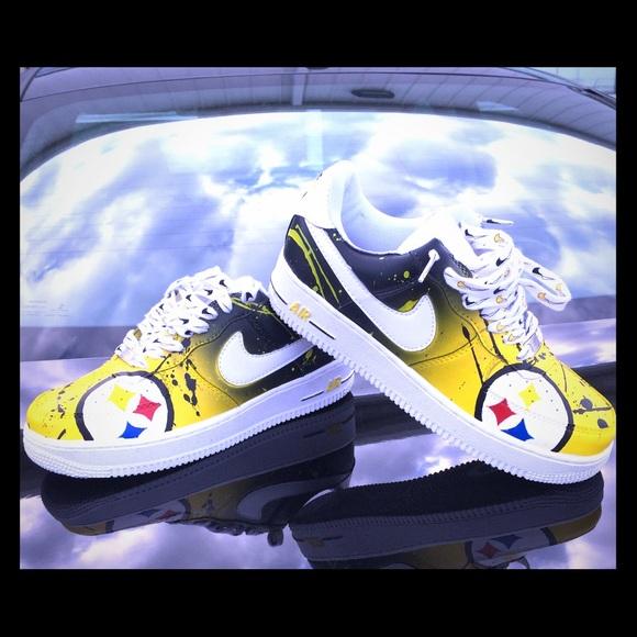 Nike Shoes | Custom Steelers Afs | Poshmark